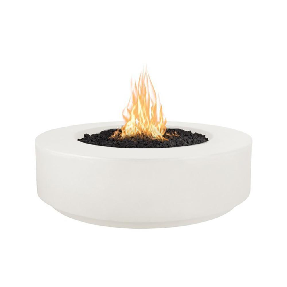 "Top Fires 42"" Florence GFRC Fire Pit in Limestone"