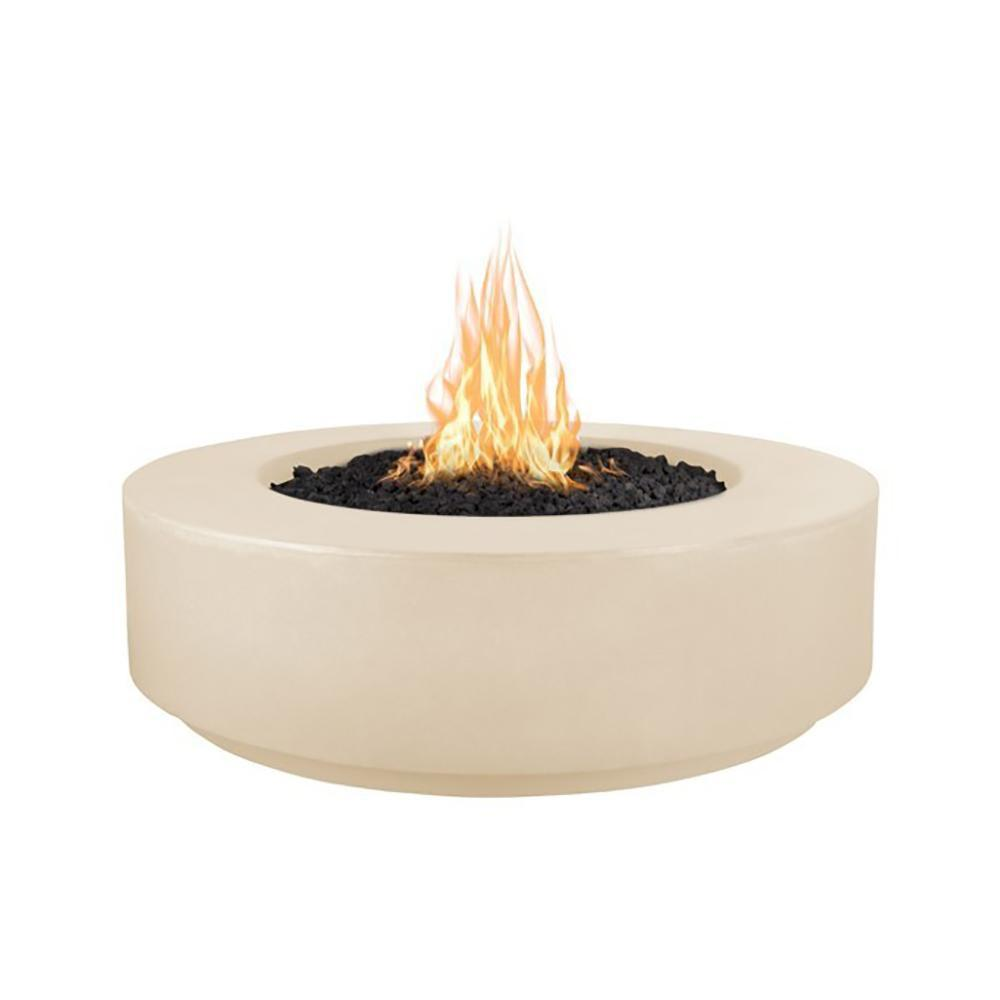 "Top Fires 42"" Florence GFRC Fire Pit in Vanilla"