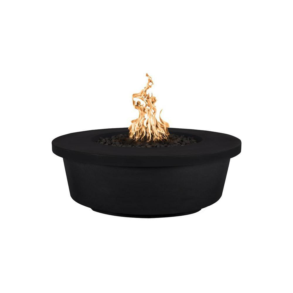 Top Fires Tempe GFRC Fire Pit in Black