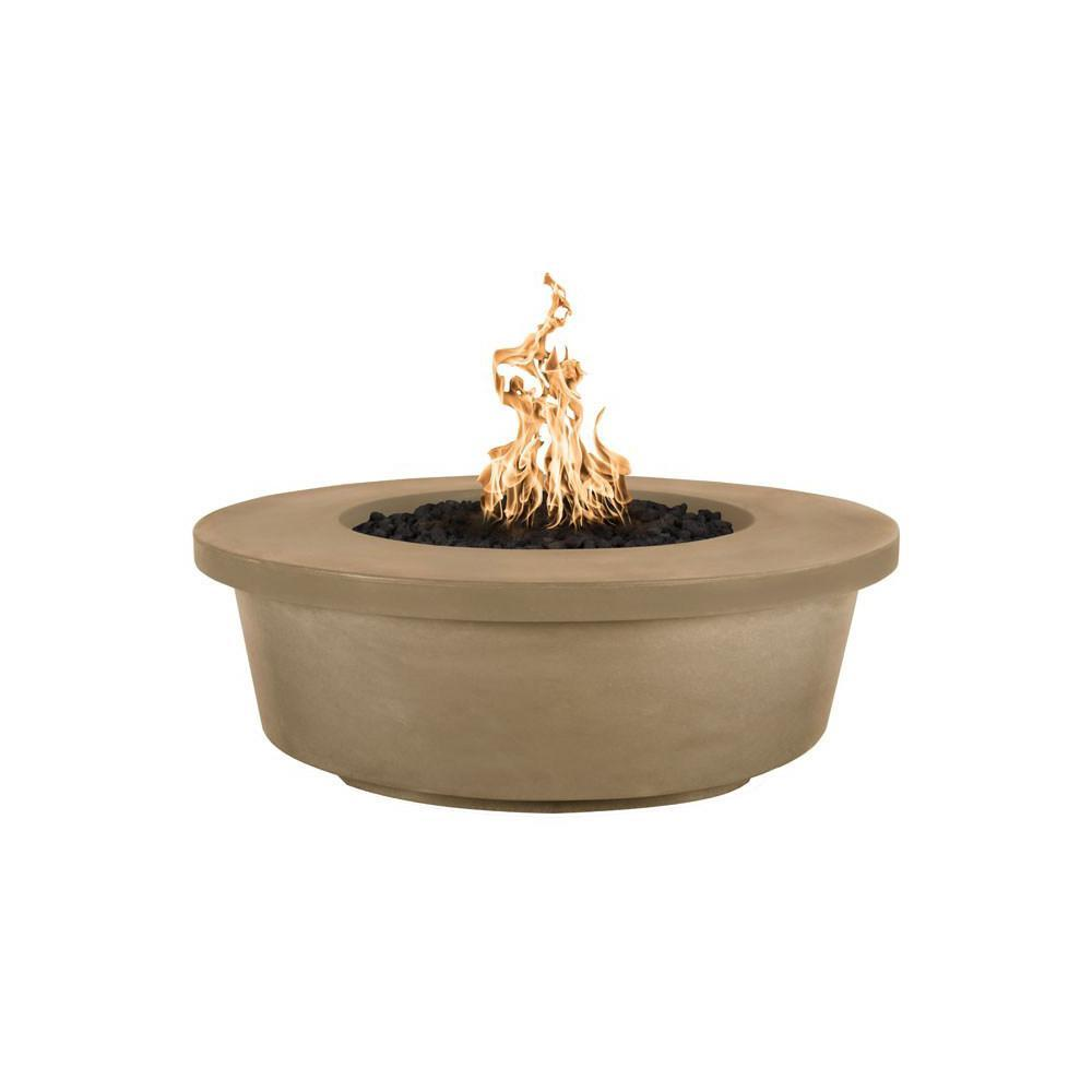 Top Fires Tempe GFRC Fire Pit in Brown