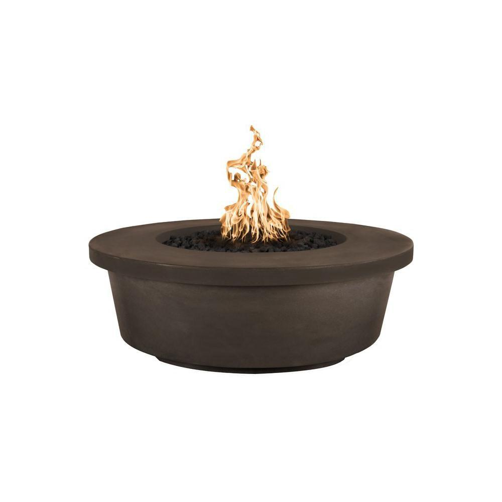 Top Fires Tempe GFRC Fire Pit in Chocolate