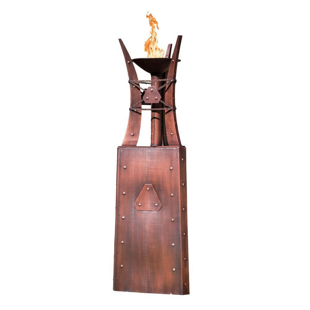 "Top Fires 87"" Fire Tower #3 Copper - Match Lit (OPT-FTWR3)"