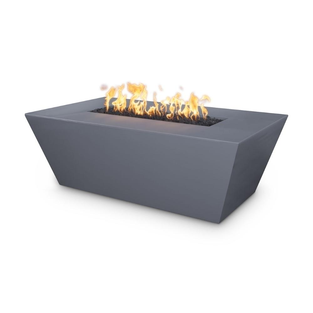 "Top Fires Angelus 60"" Rectangular GFRC Gas Fire Pit Table in Gray"