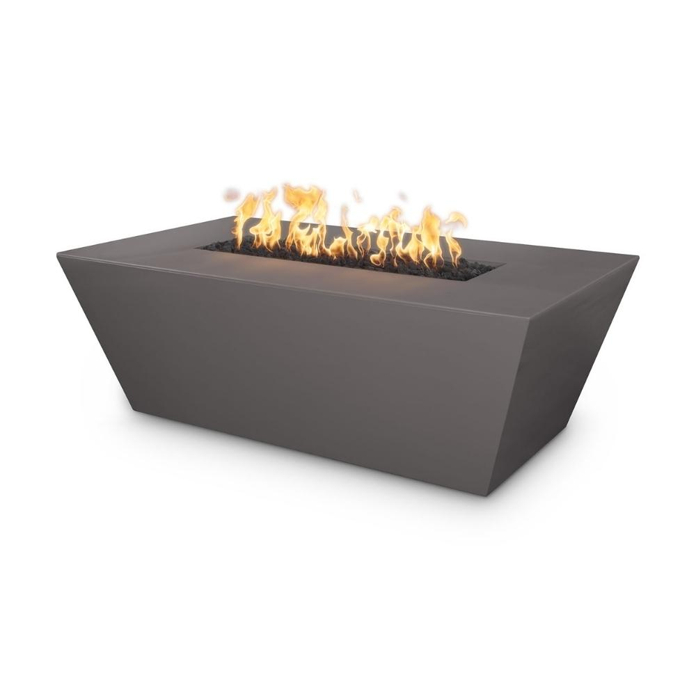 "Top Fires Angelus 60"" Rectangular GFRC Gas Fire Pit Table in Chestnut"