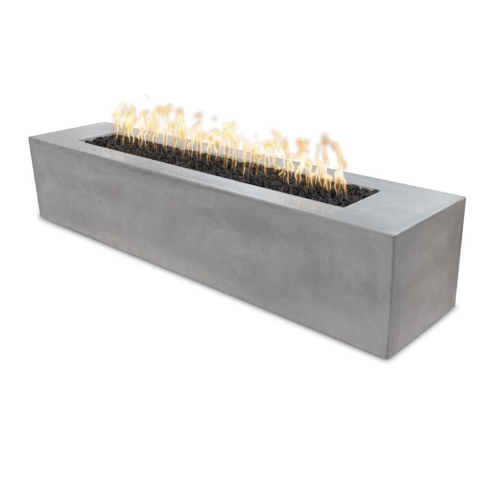 Top Fires Carmen Linear GFRC Gas Fire Pit in Natural Gray