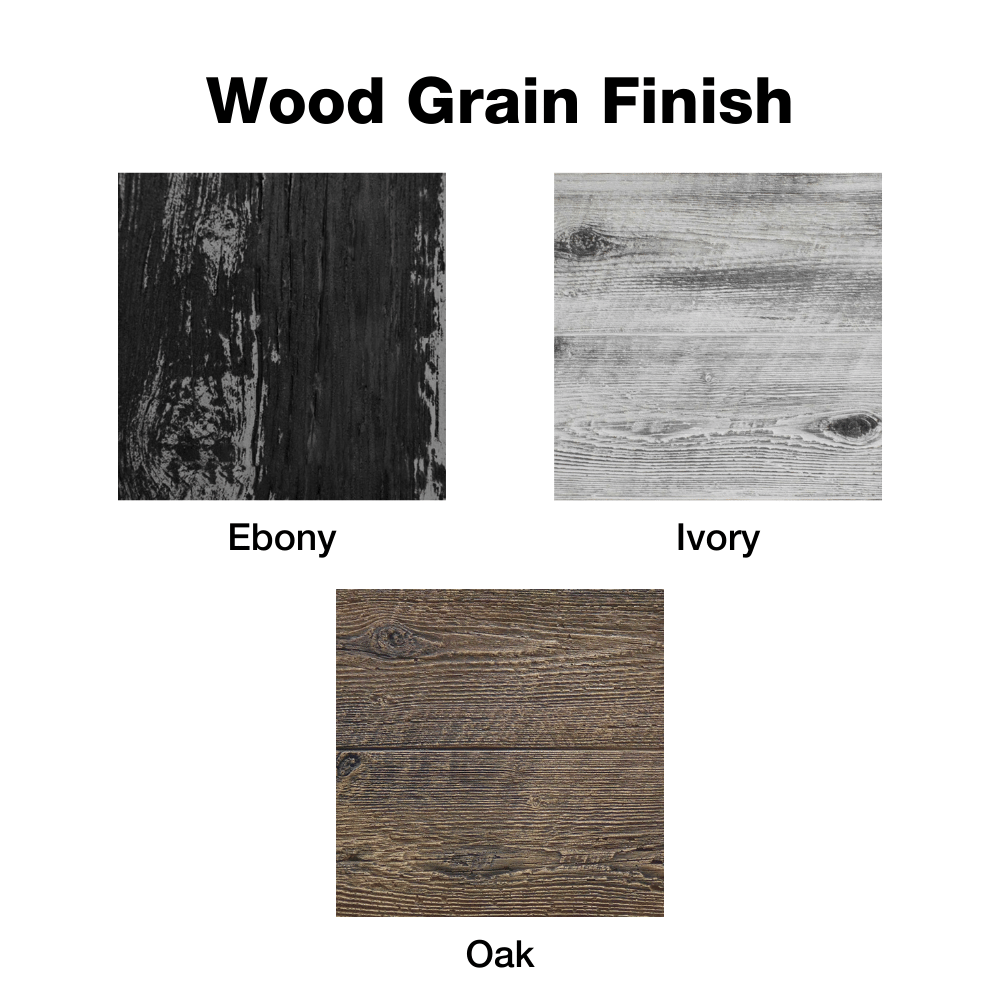 Wood Grain Finish Options