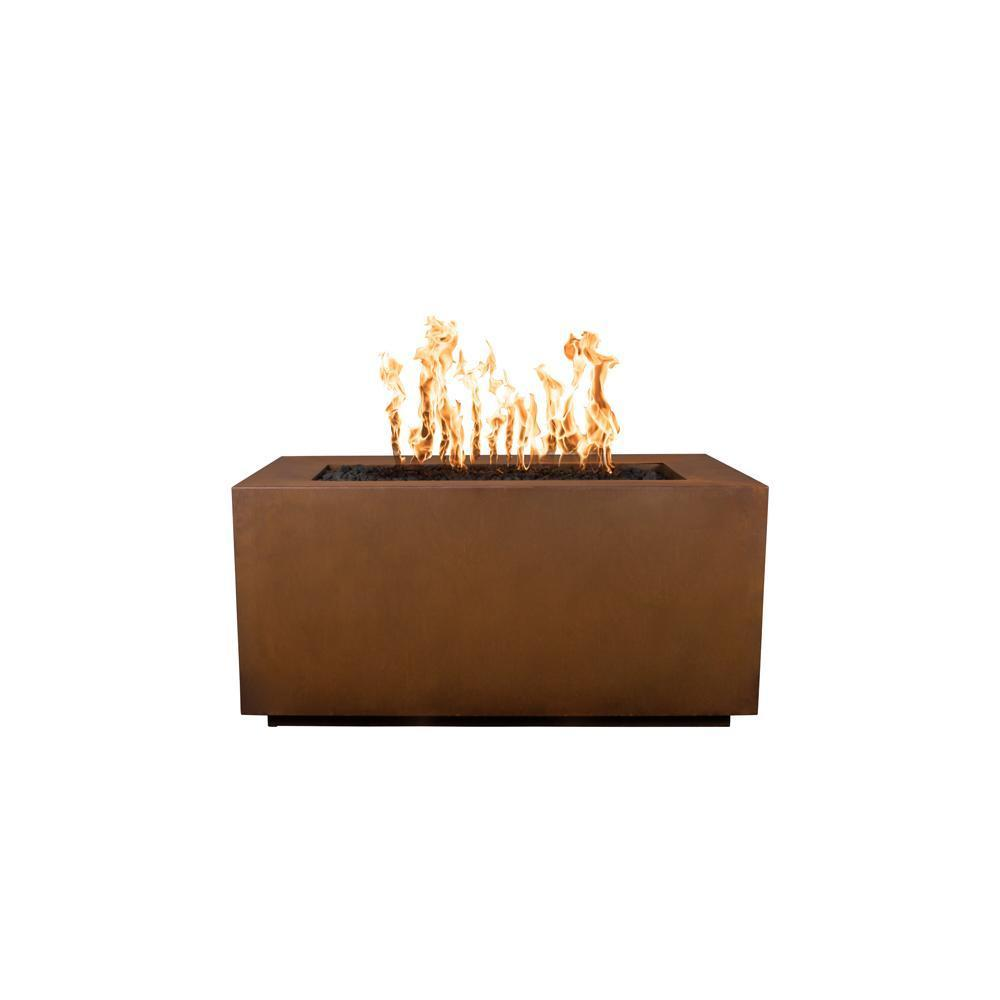 Top Fires Corten Steel Gas Fire Pit - Match Lit
