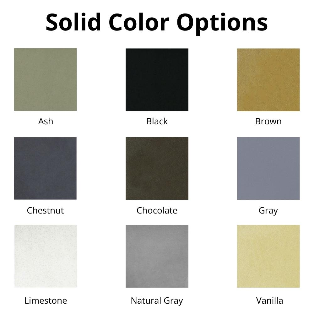Solid Color Options