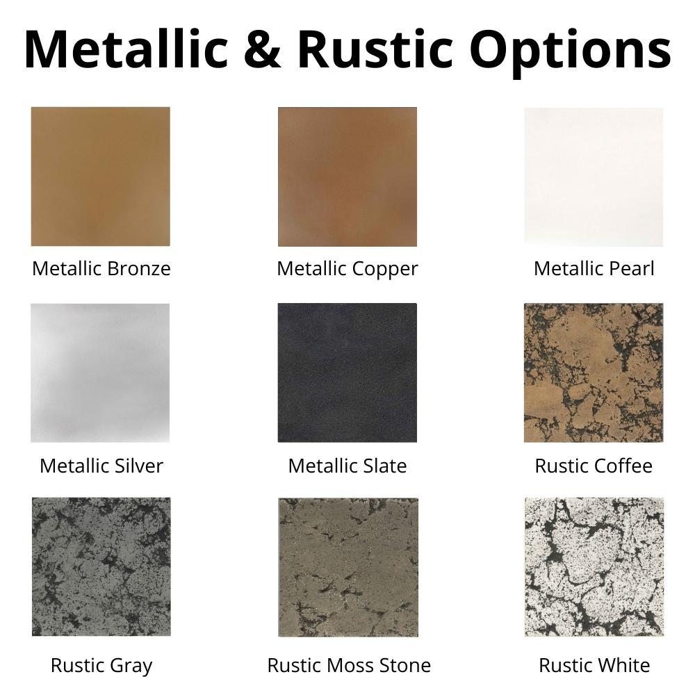 Metallic & Rustic Options