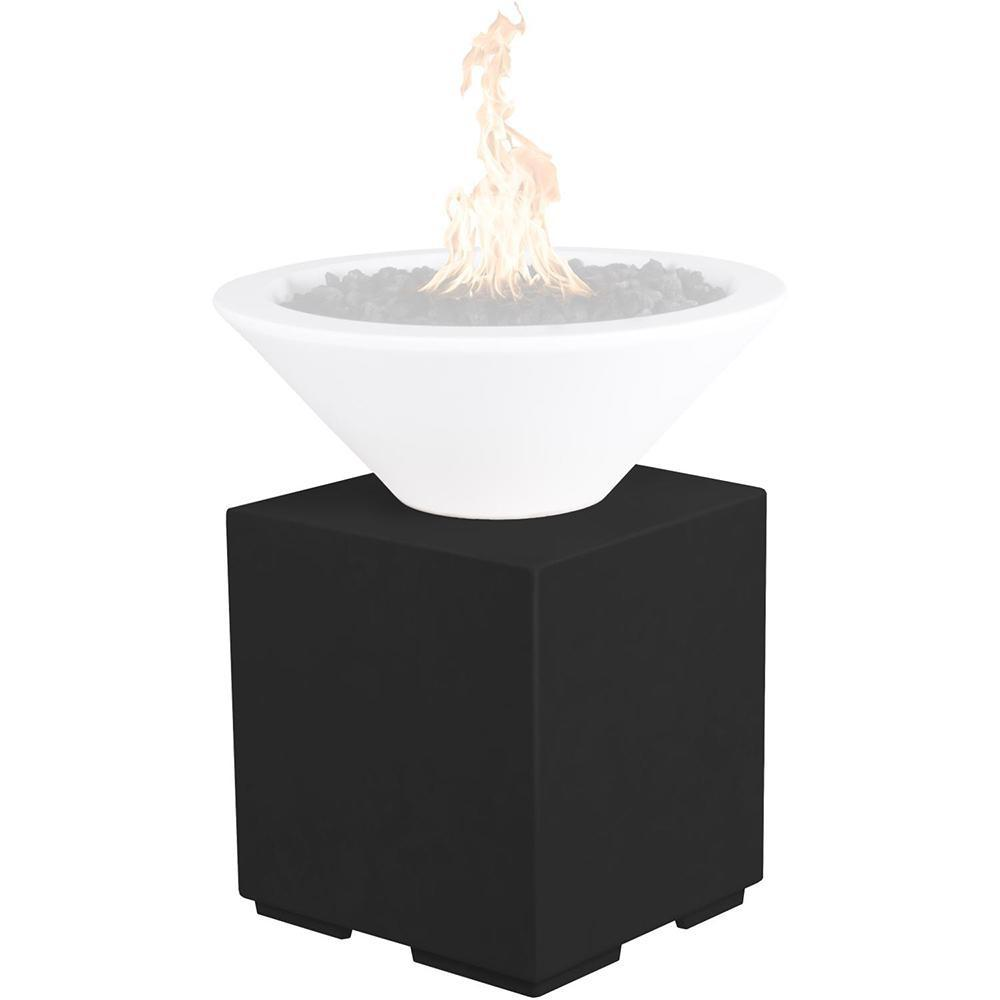 Top Fires GFRC Pillar for Fire Bowls in Black