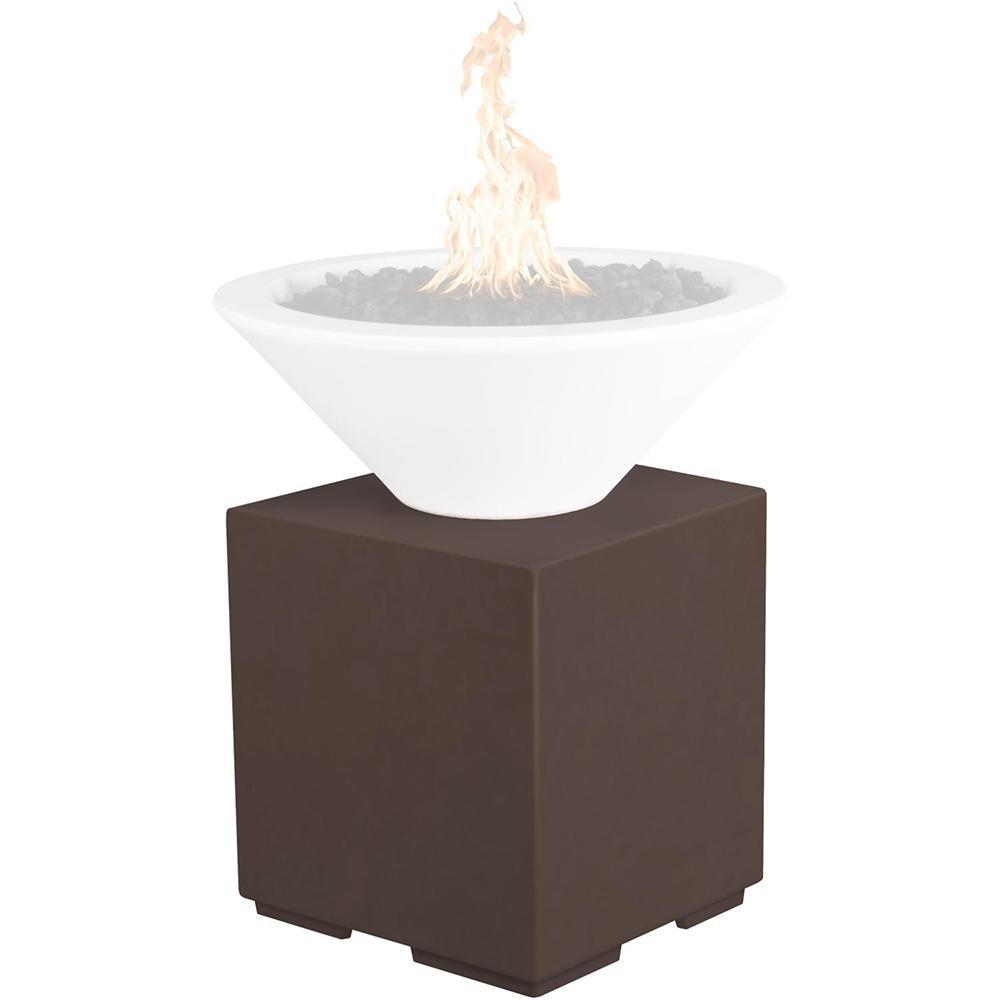 Top Fires GFRC Pillar for Fire Bowls in Chocolate