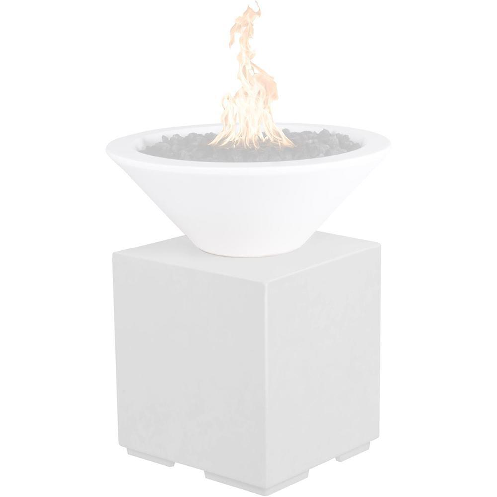 Top Fires GFRC Pillar for Fire Bowls in Limestone