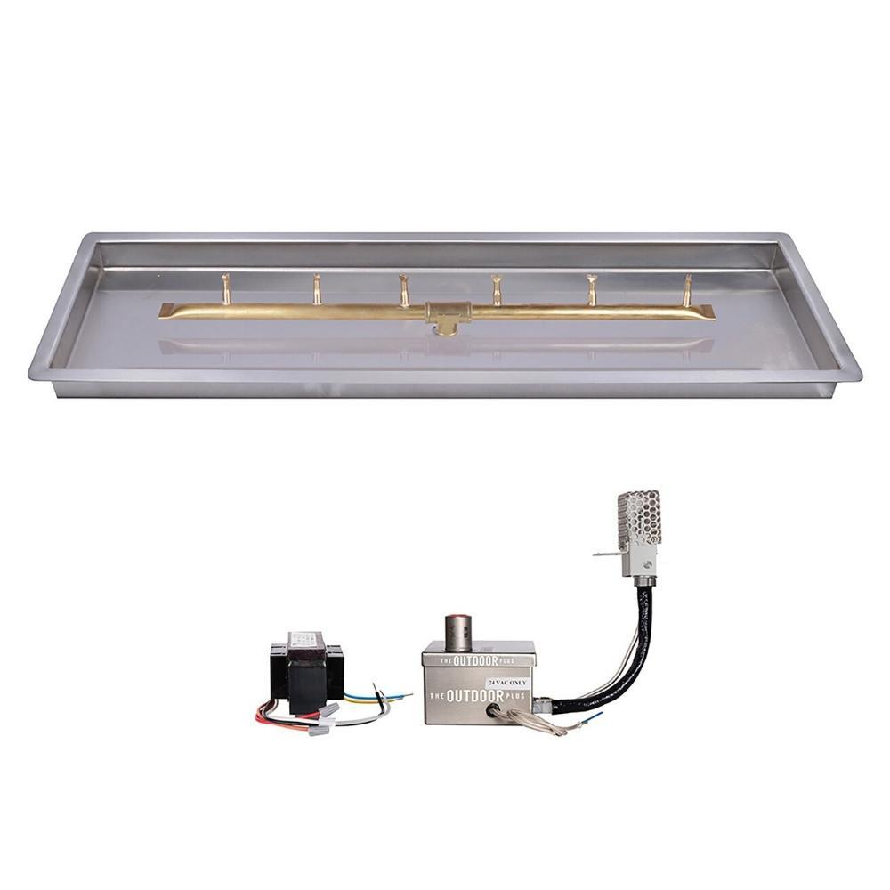 "Top Fires Linear Bullet Gas Burner - Electronic, Sizes: 18"" - 84"" Long"