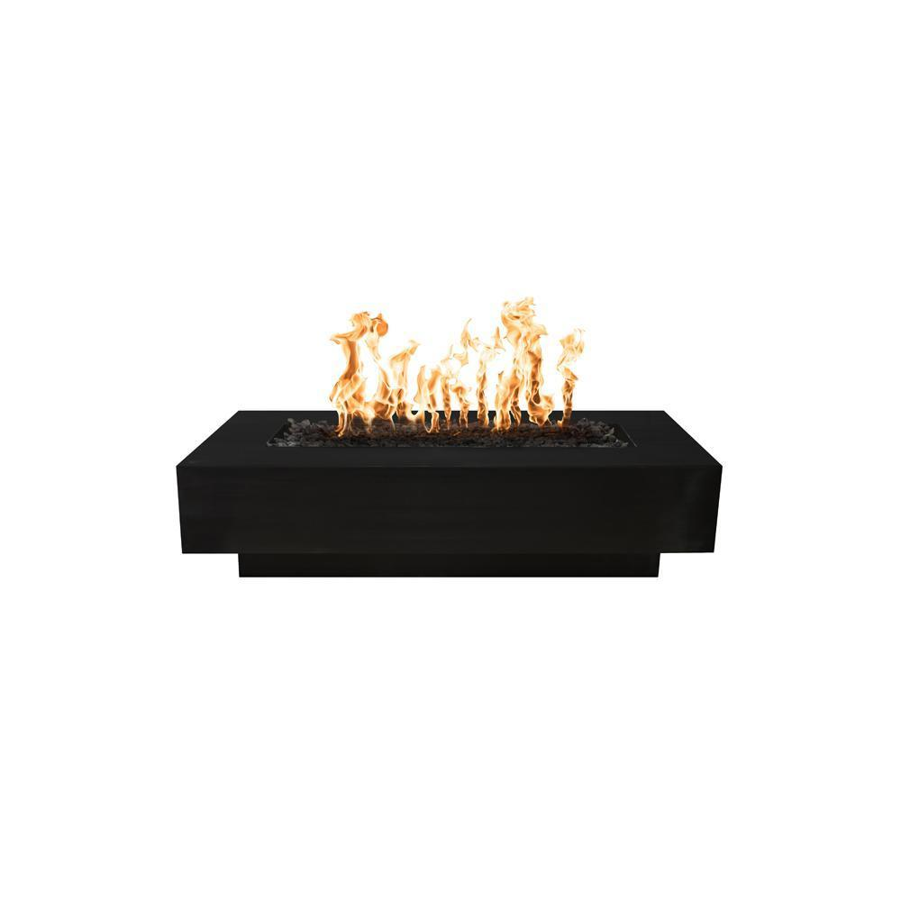 Top Fires Powder Coated Steel Gas Fire Pit - Match Lit