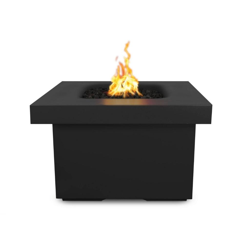 "Top Fires Ramona 36"" Square GFRC Gas Fire Pit Table - Flame Sense"