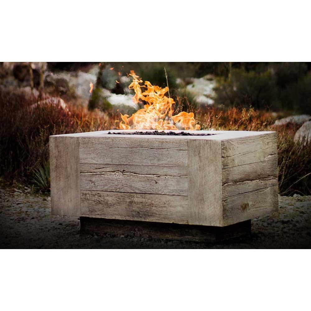 Top Fires Rectangular Catalina GFRC Gas Fire Pit in Ivory