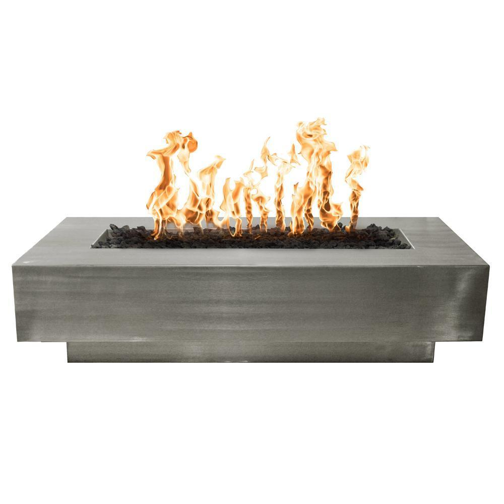 Top Fires Rectangular Gas Fire Pit With Match Lit Ignition