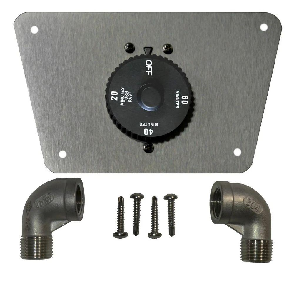Top Fires 1 HOUR GAS TIMER & MOUNTING PLATE