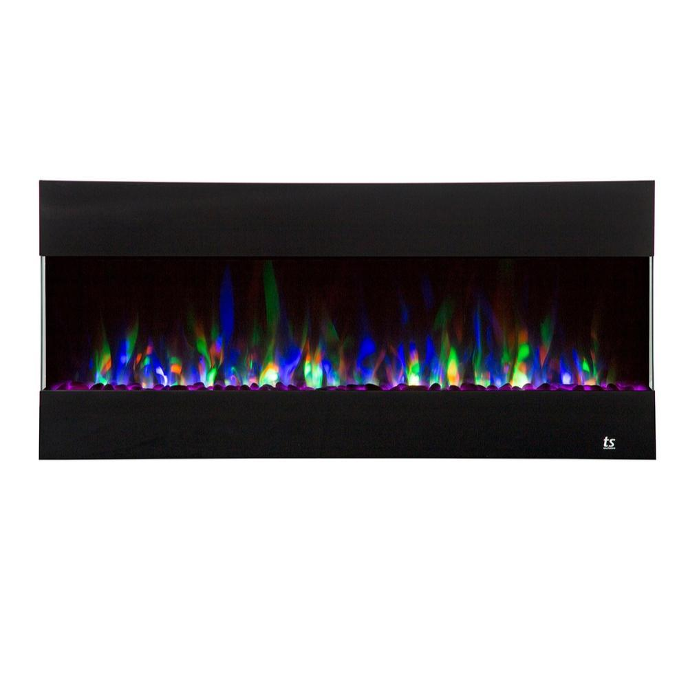 "Touchstone Fury - 50"" 3-Sided Recessed Electric Fireplace (#80040)"