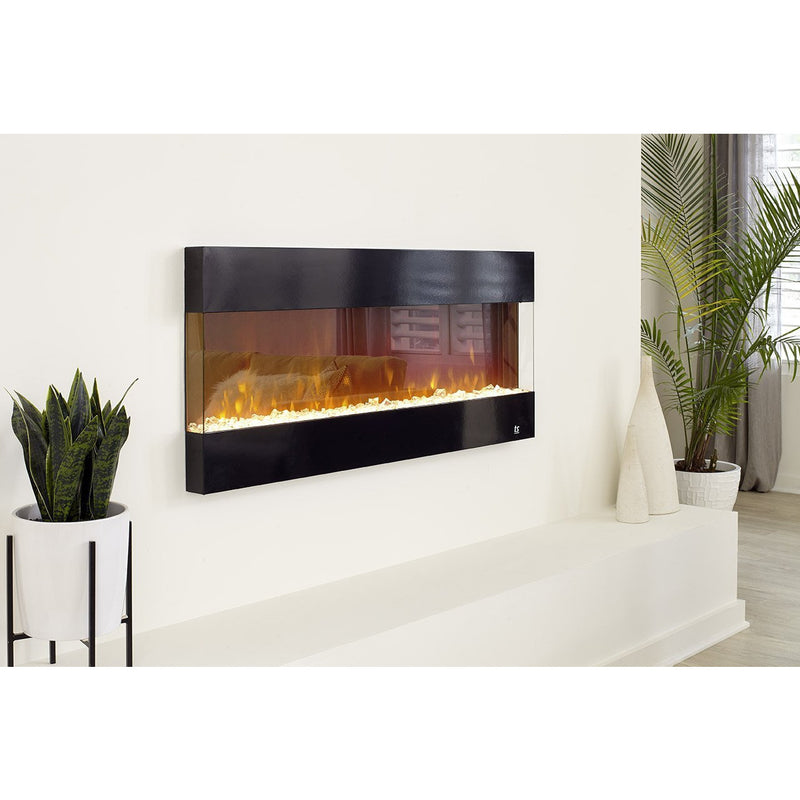 "Touchstone Fury - 50"" 3-Sided Recessed Electric Fireplace (#80040) Partially Recessed"