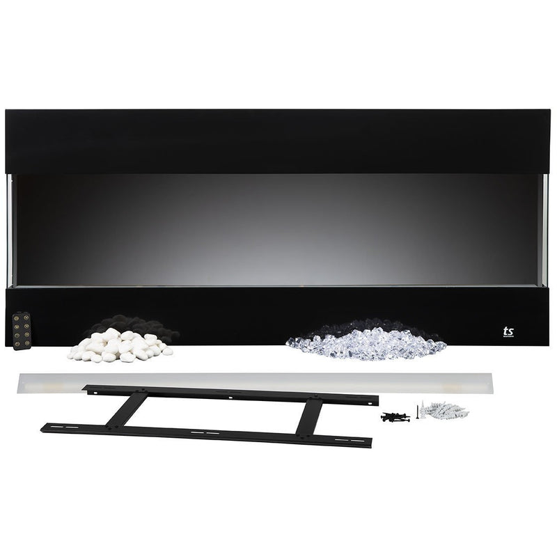 "Touchstone Fury - 50"" 3-Sided Recessed Electric Fireplace (#80040) Package Content"