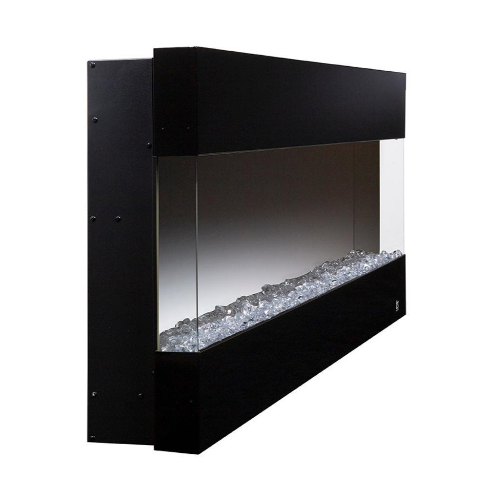 "Touchstone Fury - 50"" 3-Sided Recessed Electric Fireplace (#80040) with Crystals"