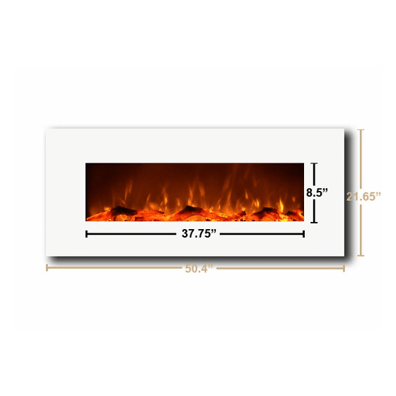 Electric Fireplace - Touchstone The Ivory™ Wall Mounted Electric Fireplace (#80002)