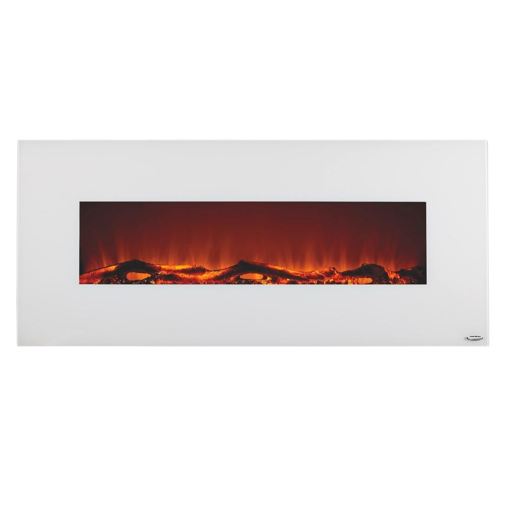 Touchstone Ivory White Wall Mounted Electric Fireplace 80002