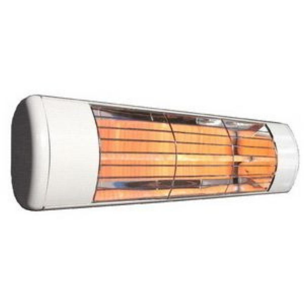 "Victory HLWA Series 19"" White 1500W 240V All Weather Infrared Heater, Frosted Lamp"
