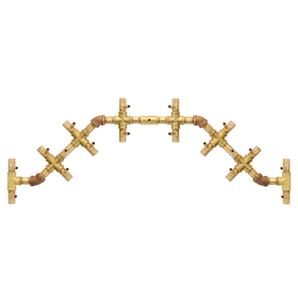 Warming Trends Centipede CROSSFIRE™️ Brass Gas Burner
