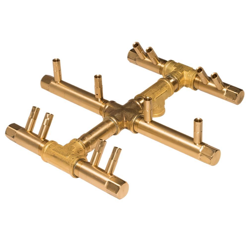 "Warming Trends CFBCTL120 Circular Tree-Style CROSSFIRE™ 11"" Brass Gas Burner"