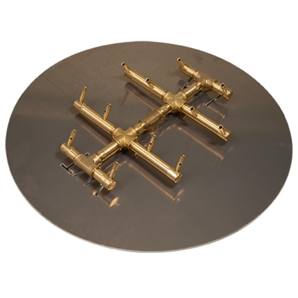 "Warming Trends CFBCTXL120 Circular Tree-Style CROSSFIRE™ 13"" Brass Gas Burner"