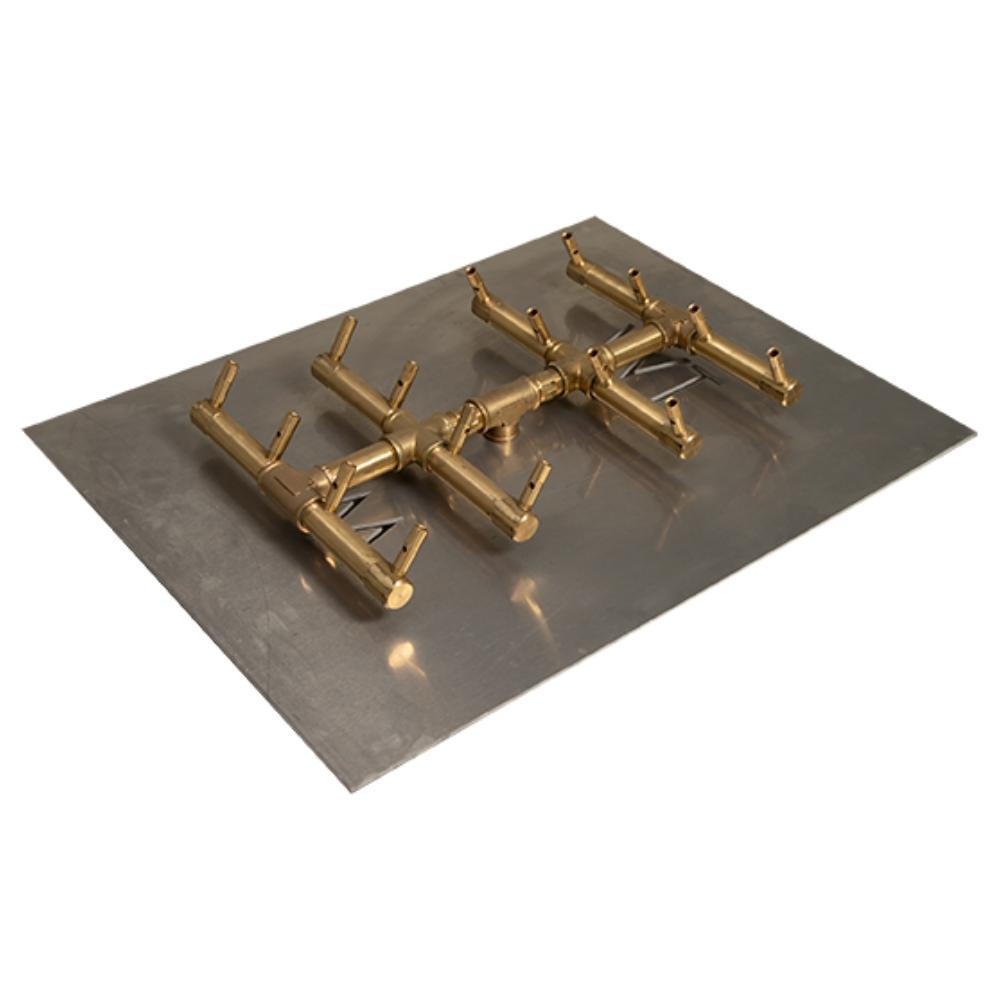 "Warming Trends CFBDT160 Double Tree-Style CROSSFIRE™ 16"" Brass Gas Burner"