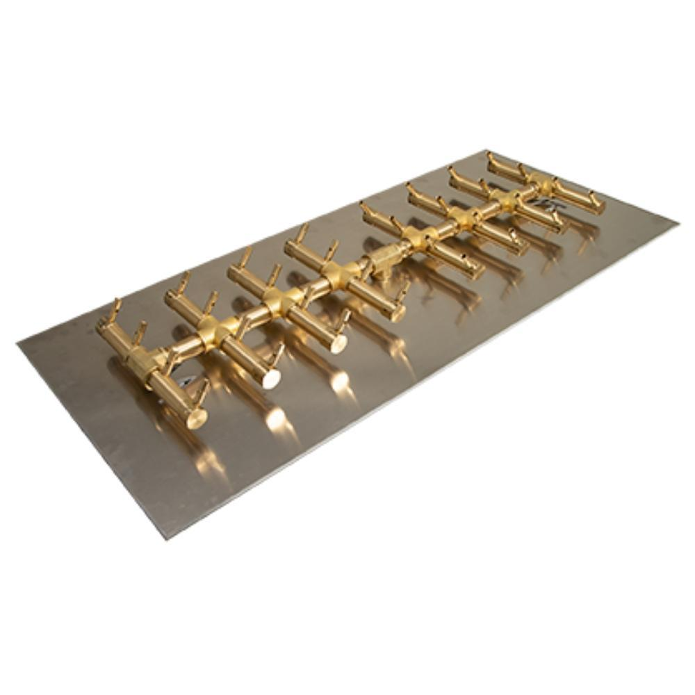 "Warming Trends CFBDT320 Double Tree-Style CROSSFIRE™ 35"" Brass Gas Burner with 41"" Plate"