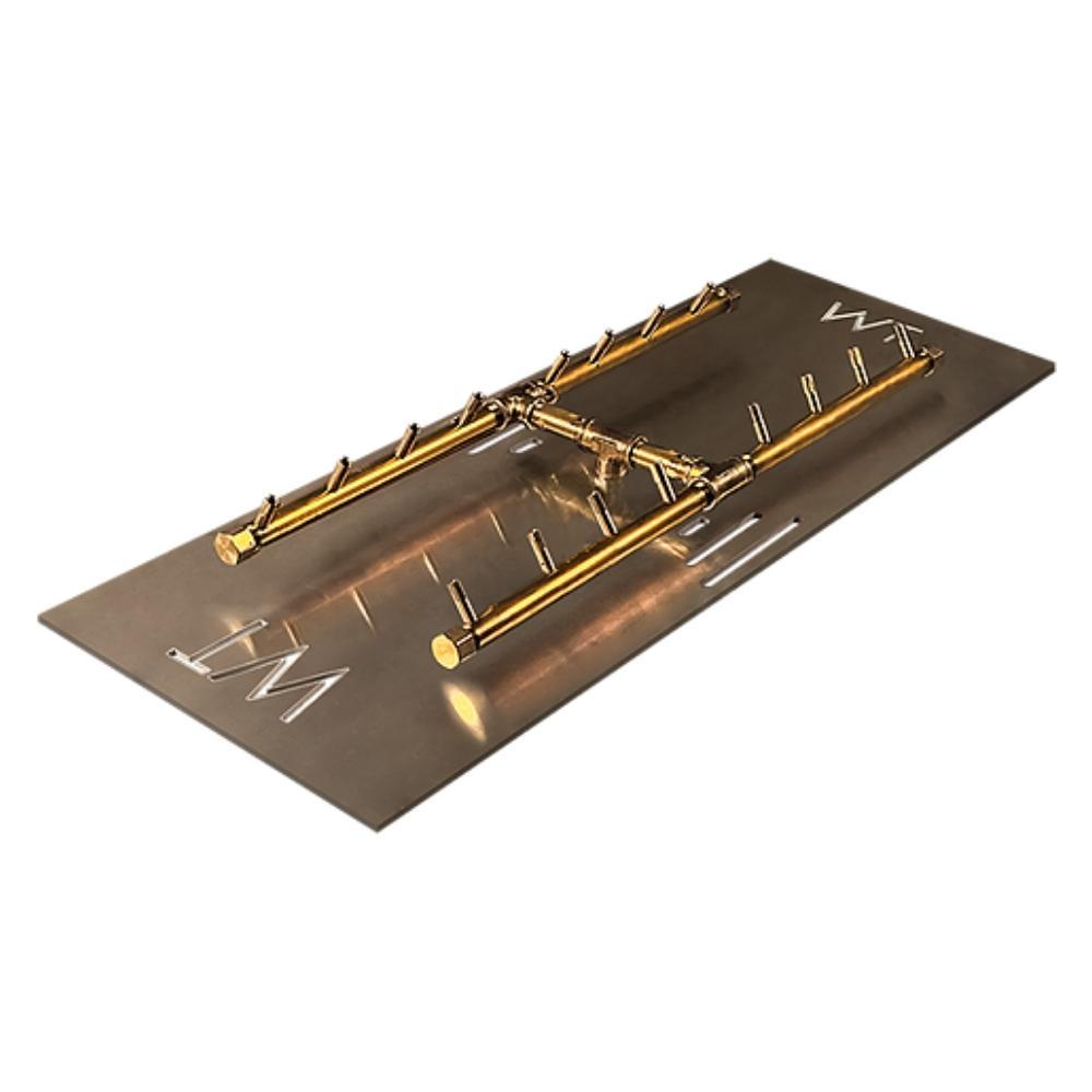 "Warming Trends CFBH160 H-Style CROSSFIRE™ 24"" Brass Gas Burner"