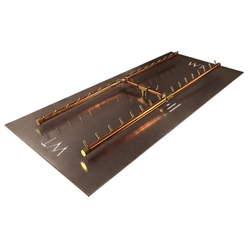 "Warming Trends CFBH340 H-Style CROSSFIRE™ 48"" Brass Gas Burner"
