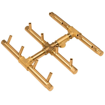 "Warming Trends CFBST120 Square Tree-Style CROSSFIRE™ 10"" Brass Gas Burner"