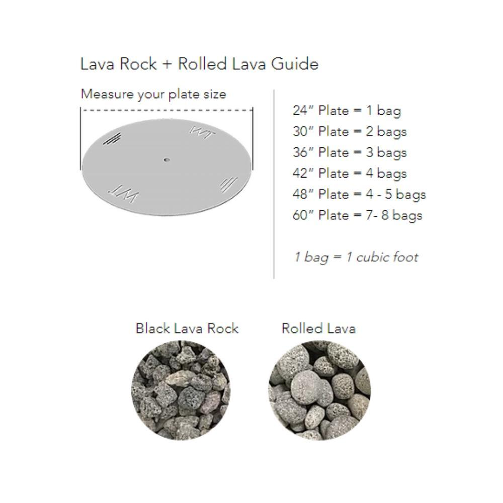 "Warming Trends Ready to Finish Round Gas Fire Pit, Sizes: 42"" - 72"" Wide"