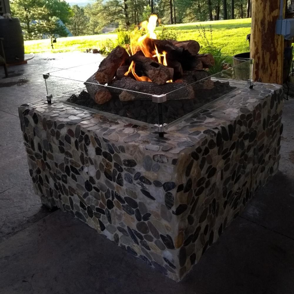 "Warming Trends Ready to Finish Square Gas Fire Pit, Sizes: 36"" - 60"" Wide"