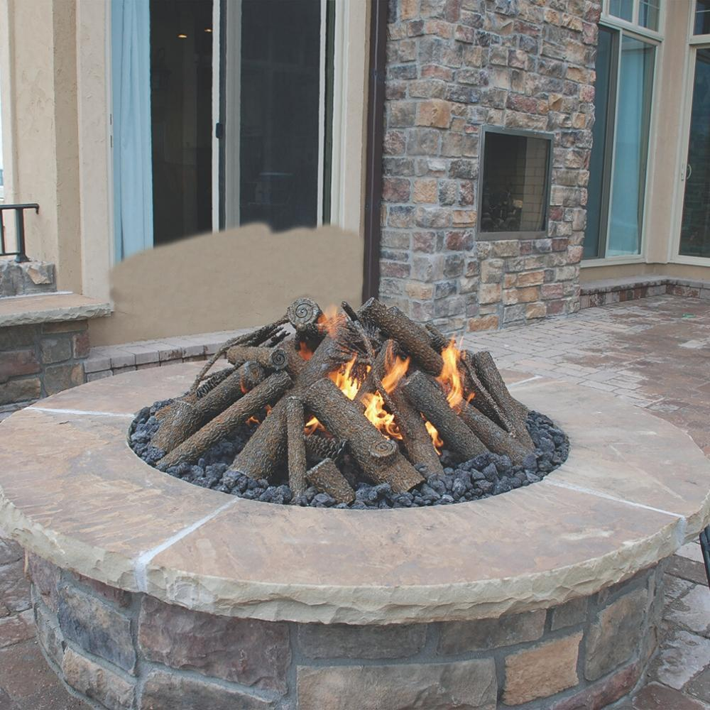 Warming Trends Steel Log Sets for Gas Fire Pits