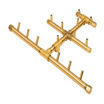 CFBTRI140 Triangular CROSSFIRE Brass Burner  140K BTUs