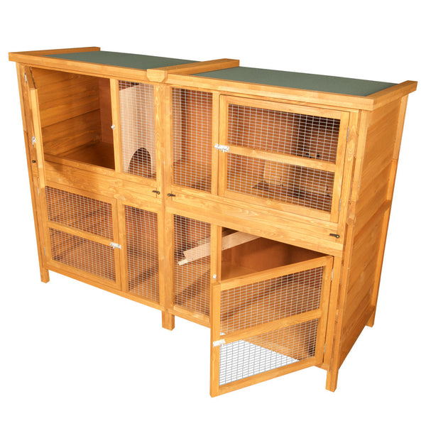 Chartwell double hutches scratch and newton for How to make a rabbit hutch from scratch