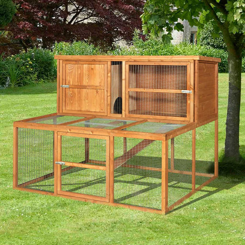Kendal Luxury Rabbit Hutch and Run