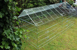 Large Galvanised Apex Rabbit Run