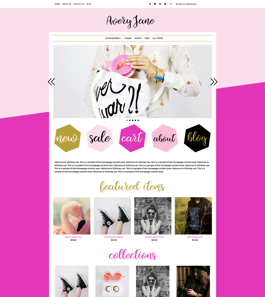Avery Jane One Mobile Responsive Shopify Theme