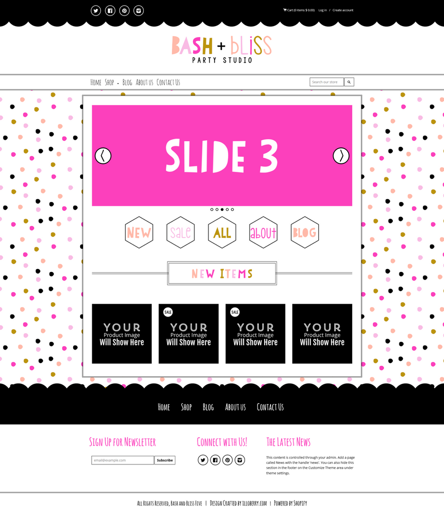 Bash and Bliss Five Mobile Responsive Shopify Theme