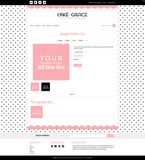 Cake + Grace Five Mobile Responsive Shopify Theme