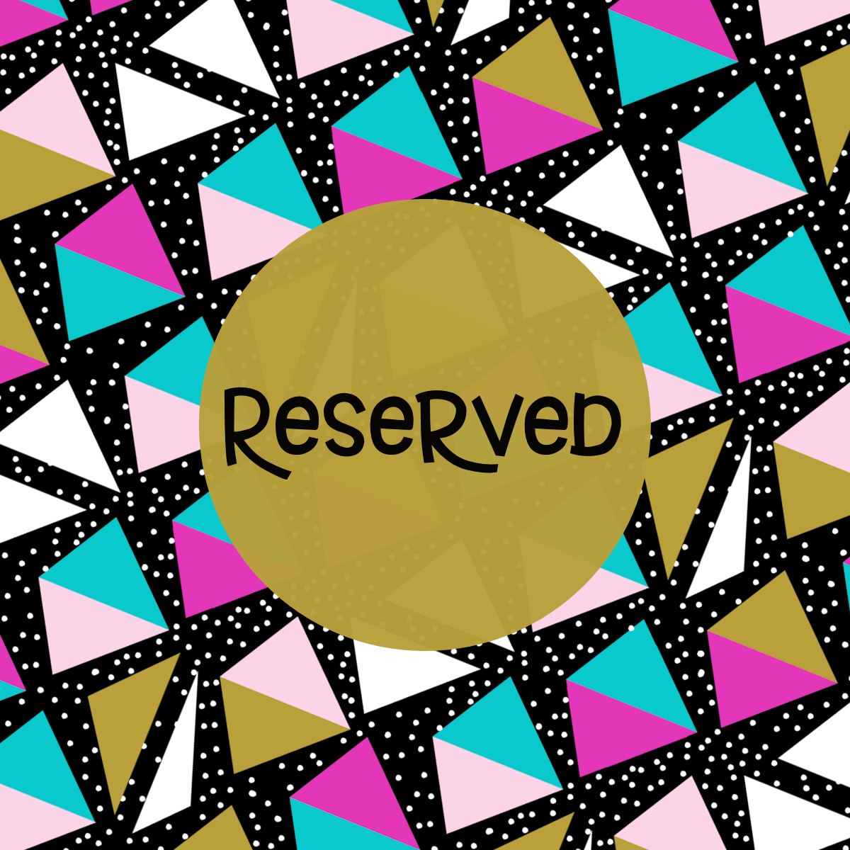 Reserved Listing: Made to Match Patterns