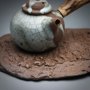 textured clay slab teaboat 14 x 16cm