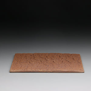 textured clay slab teaboat 12.5 x 19cm